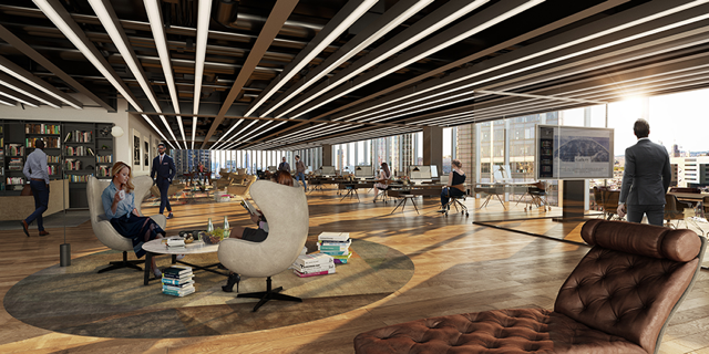 River Film office space rendering for 70 St Mary Axe