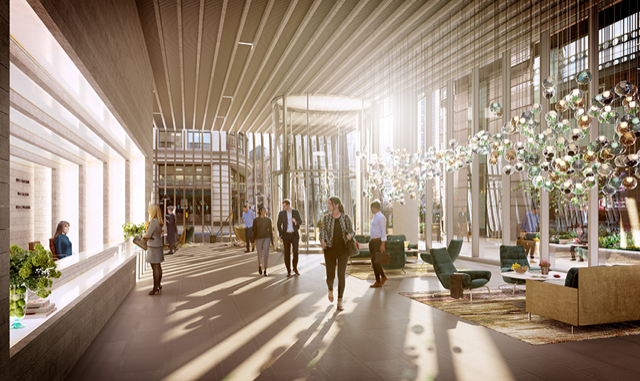 River Film lobby rendering for 70 St Mary Axe