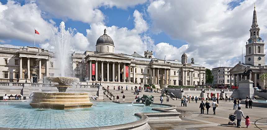 Trafalgar Square Film location by River Film